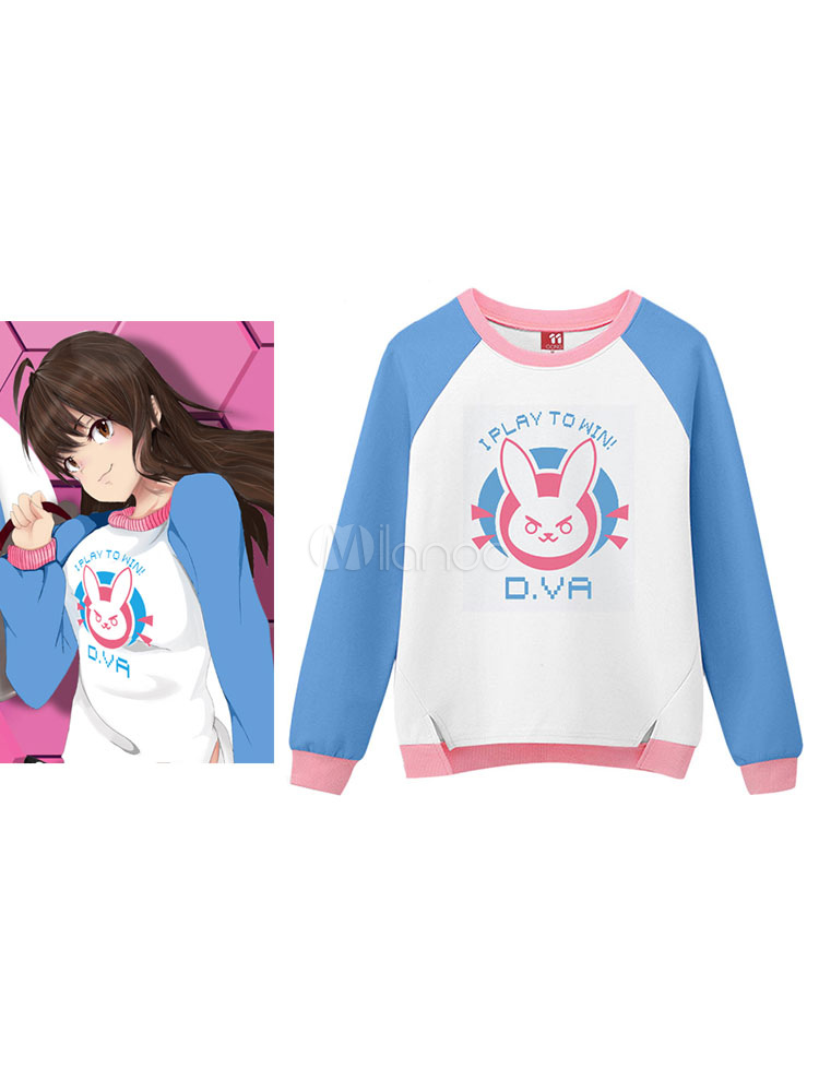 Buy Overwatch D.va Kawaii Hoodie Cotton Hoodie Halloween for $36.04 in Milanoo store