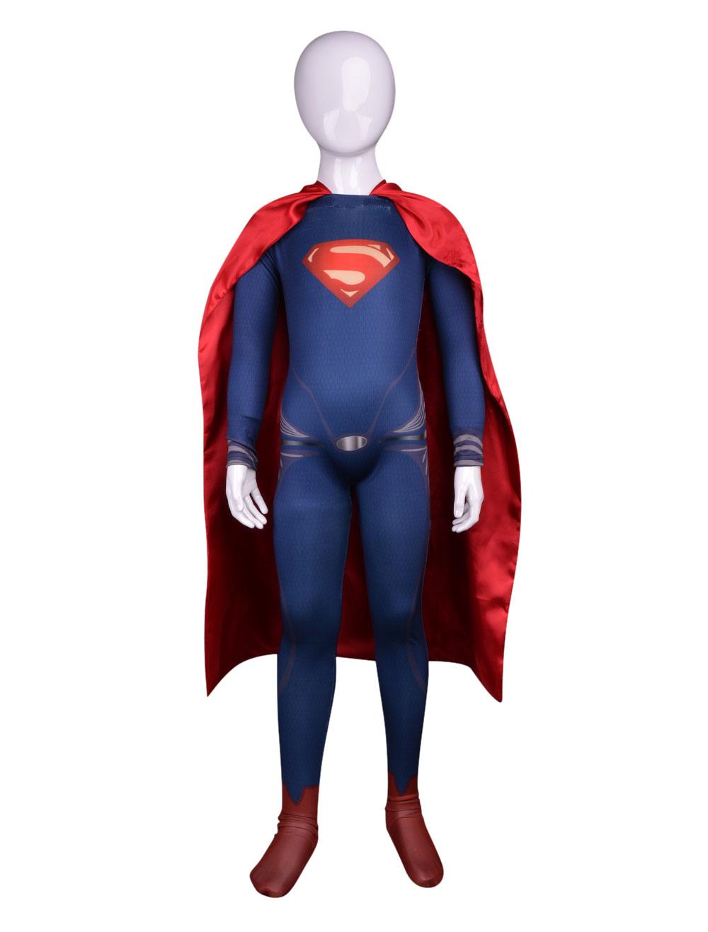 Унисекс Супермен Хэллоуин лайкра комбинезон с плащ многоцветной ... aafcc266604f3