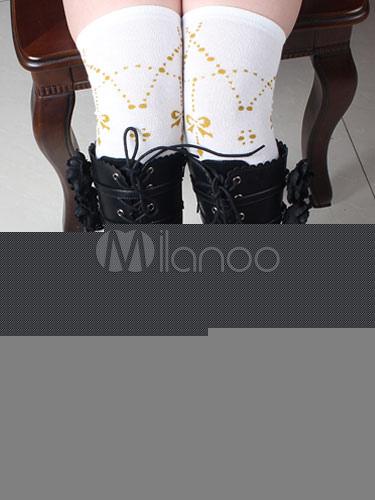 Black Lolita Boots Chunky Heel Lace Up Punk Lolita Shoes