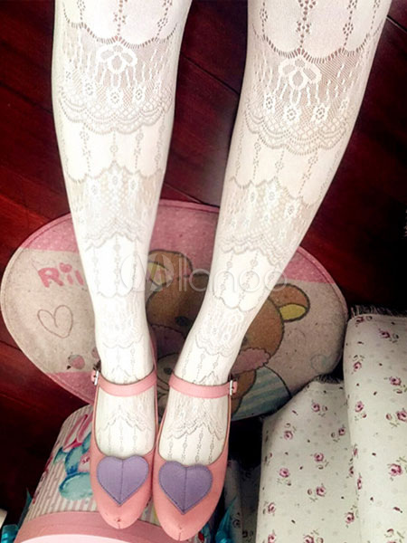 Sweet Lolita Stockings Jacquard Baroque Lolita Tights
