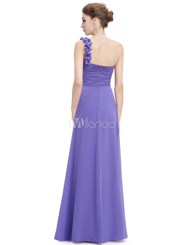 Long Bridesmaid Dress Sweatheart Chiffon Prom Dresses 2018 One ...