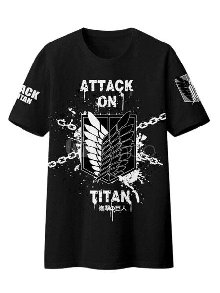 Buy Attack On Titan Shingeki No Kyojin Survey Corps Logo T-shirt Halloween for $35.99 in Milanoo store
