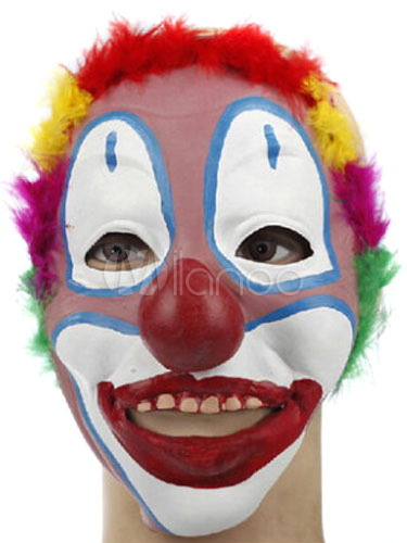 Buy Halloween Clown Mask Latex Masquerade Scary Party Decoration Halloween for $10.11 in Milanoo store
