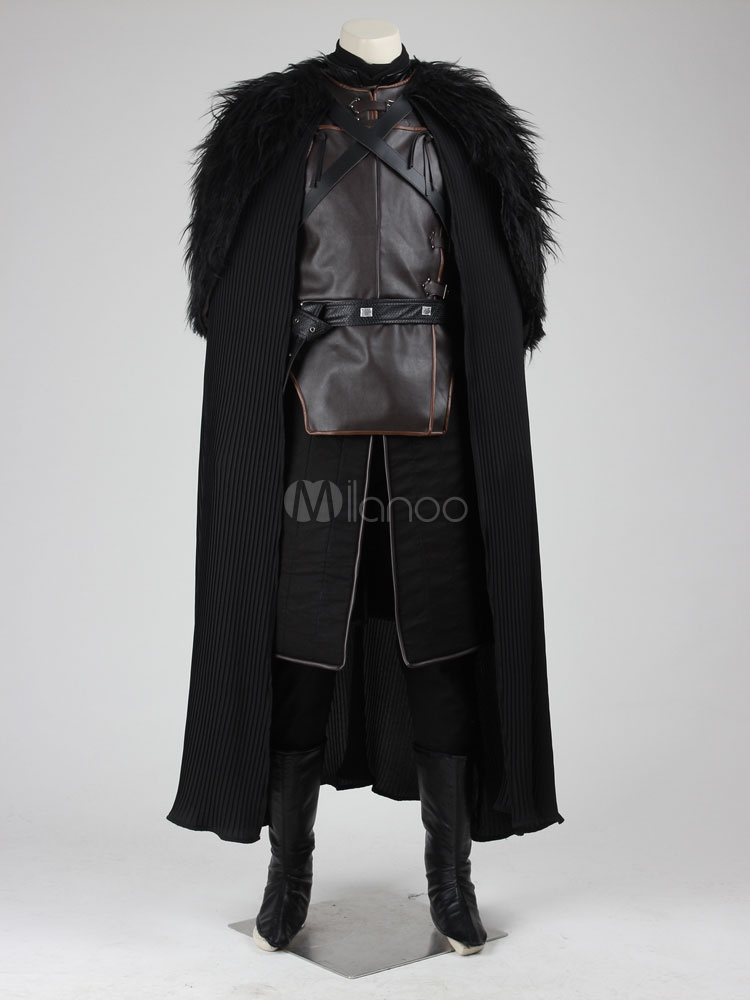 Game Of Thrones Jon Snow Halloween Cosplay Costume Faux Feather Deluxe Edition Halloween