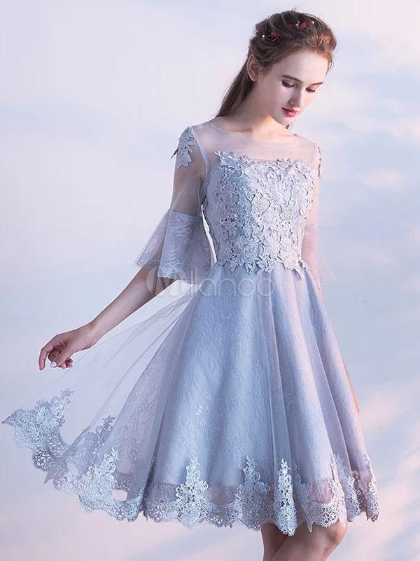 Light Grey Knee Length Dress