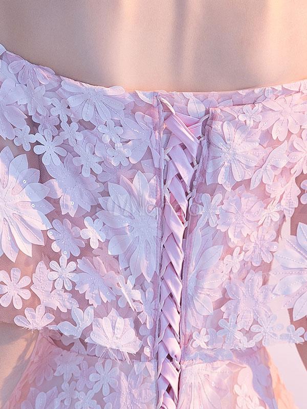 Encantador Ligeros Vestidos De Cóctel De Color Rosa Inspiración ...