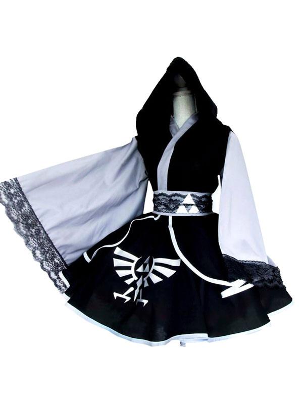 The Legend Of Zelda Dark Link Link's Shadow Cosplay Kimono Lolita Dress Halloween