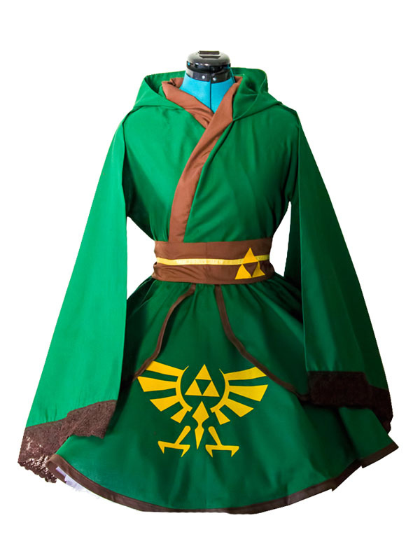 Buy The Legend Of Zelda Link Cosplay Kimono Lolita Dress Cosplay Costume Halloween for $133.19 in Milanoo store