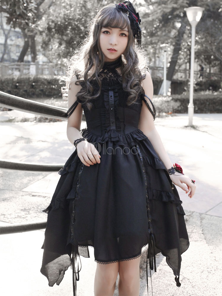Gothic Lolita Dress Neverland Souls Waltzes Jsk Black