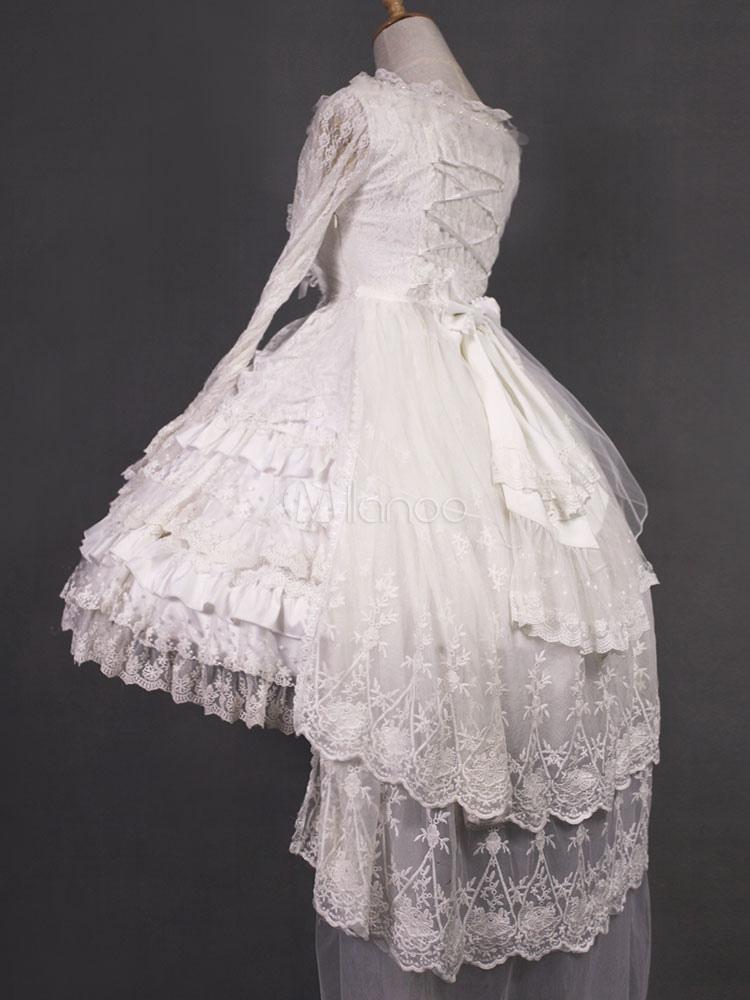 Lolita Wedding Dress Neverland Op White Lace Ruffle Lolita