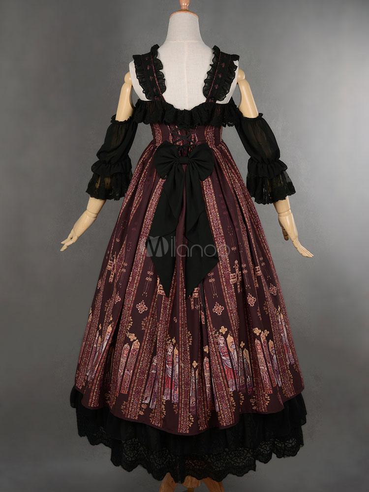 67cc9b3901d ... Классический готический Lolita Jsk Jumper Юбка Византийский стиль  Современная юбка под юбкой-No.5 ...