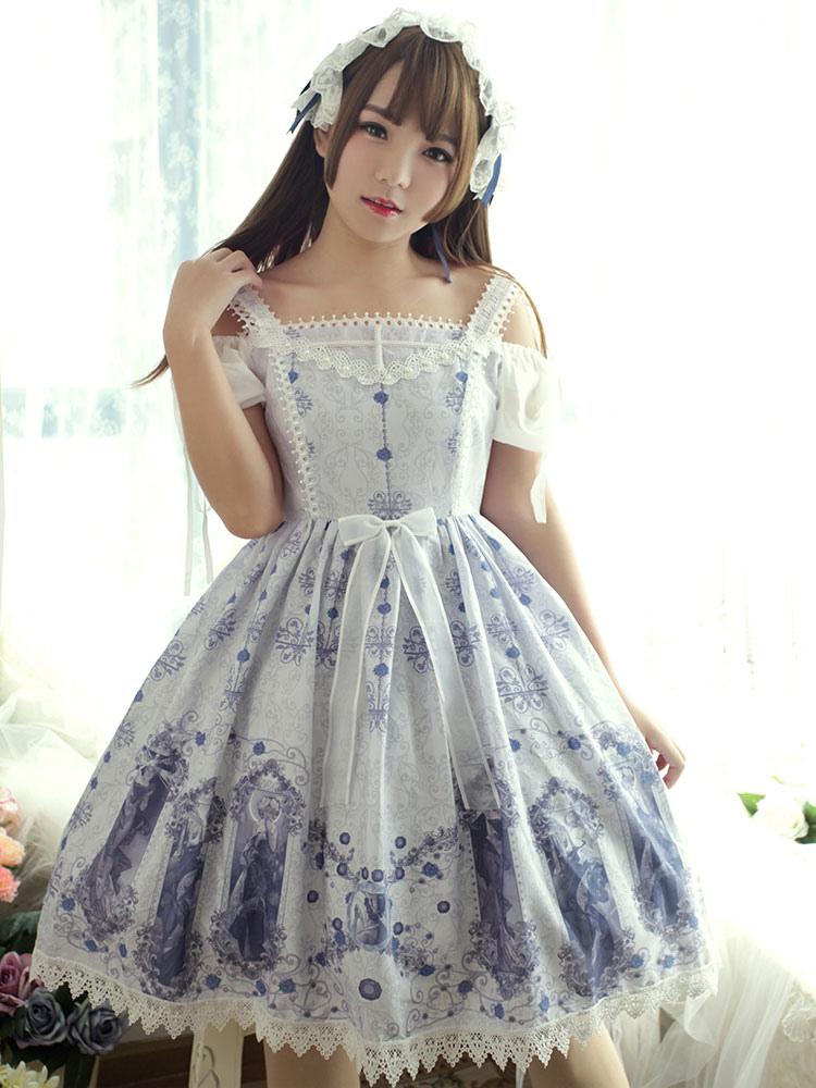Buy Classic Lolita Jsk Jumper Skirt Neverland Nightmare Magic Spell Jumper Skirt for $194.39 in Milanoo store