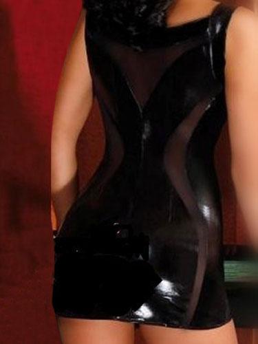 sexy pole dance pour femme noire en pu sexy robe a bretelles sans manches performance halloween. Black Bedroom Furniture Sets. Home Design Ideas