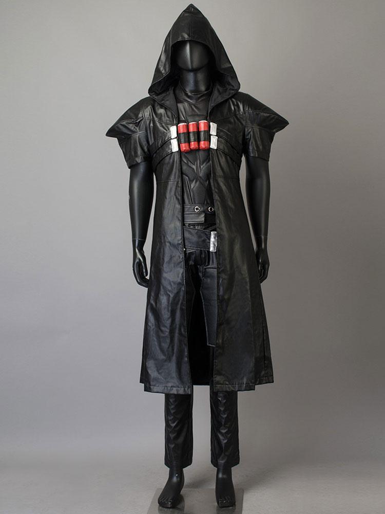 overwatch reaper cosplay costume simple version halloween milanoo com