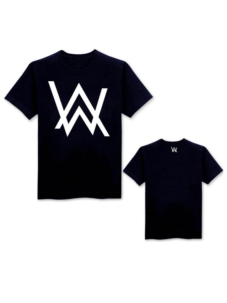 Buy Fashion DJ Allen Walker Black Cotton T Shirt Halloween for $14.71 in Milanoo store