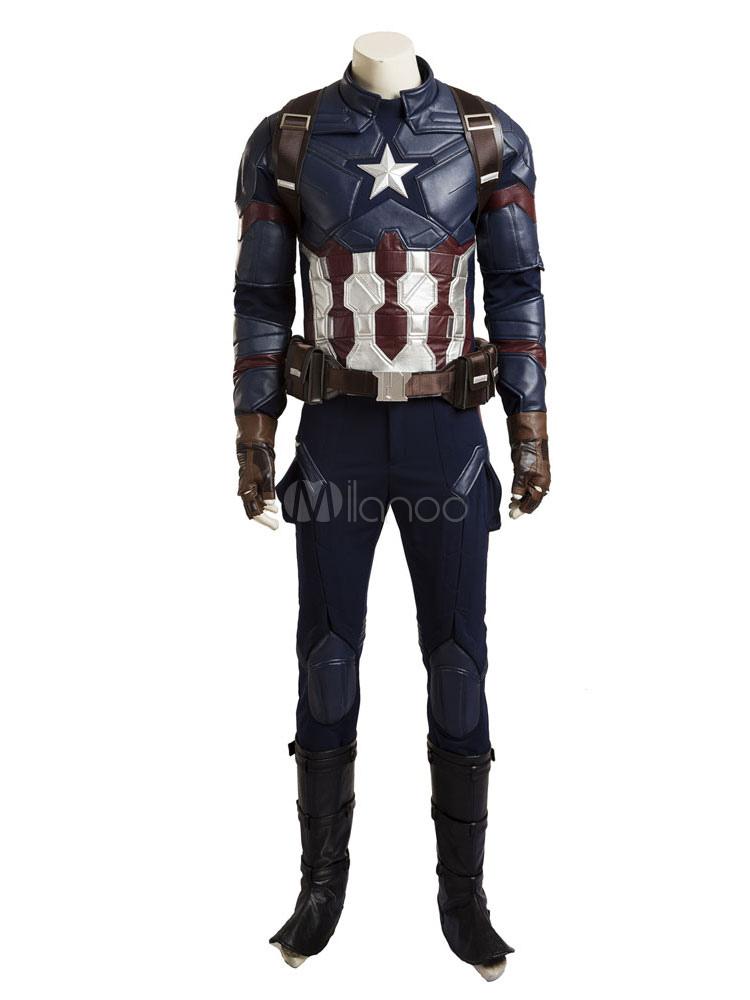 Captain America Steve Rogers Halloween Cosplay Costume Halloween