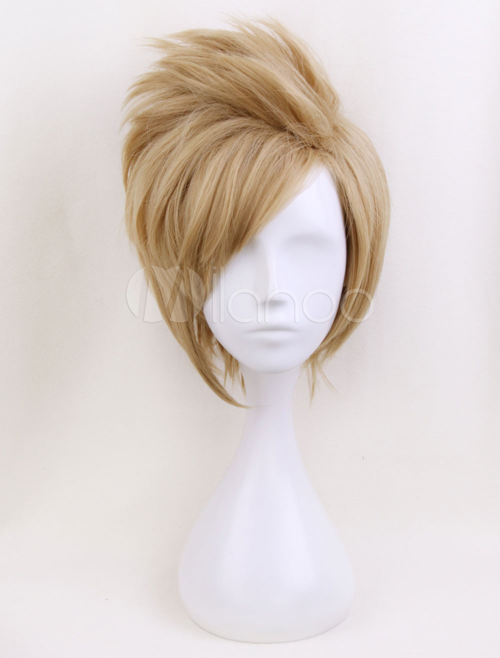 Final Fantasy XV Prompto Argentum Cosplay Light Brown Wig Halloween