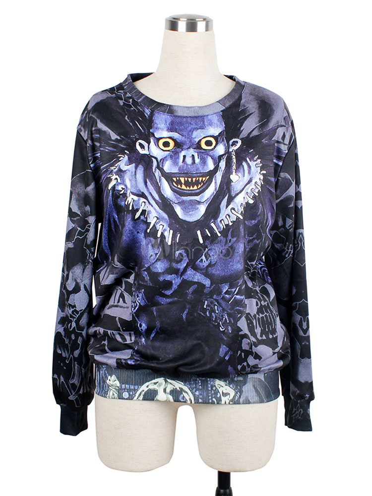 Death Note Ryuk Shinigami Japanese Anime Hoodie Halloween