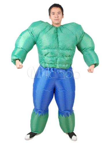 Halloween Costume Set Unisex Green Hulk Funny Jumpsuit Inflatable Suit  Halloween