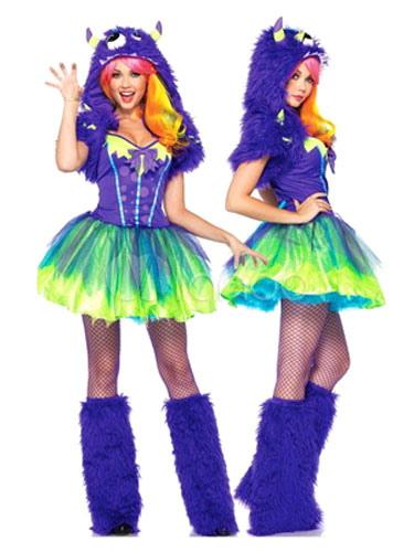 Monster Uni Kostum.Sexy Monster Universitat Kostum Halloween Damen Royal Purple Faux Fur Jumper Mit Schuhen Und Hut Halloween Milanoo Com