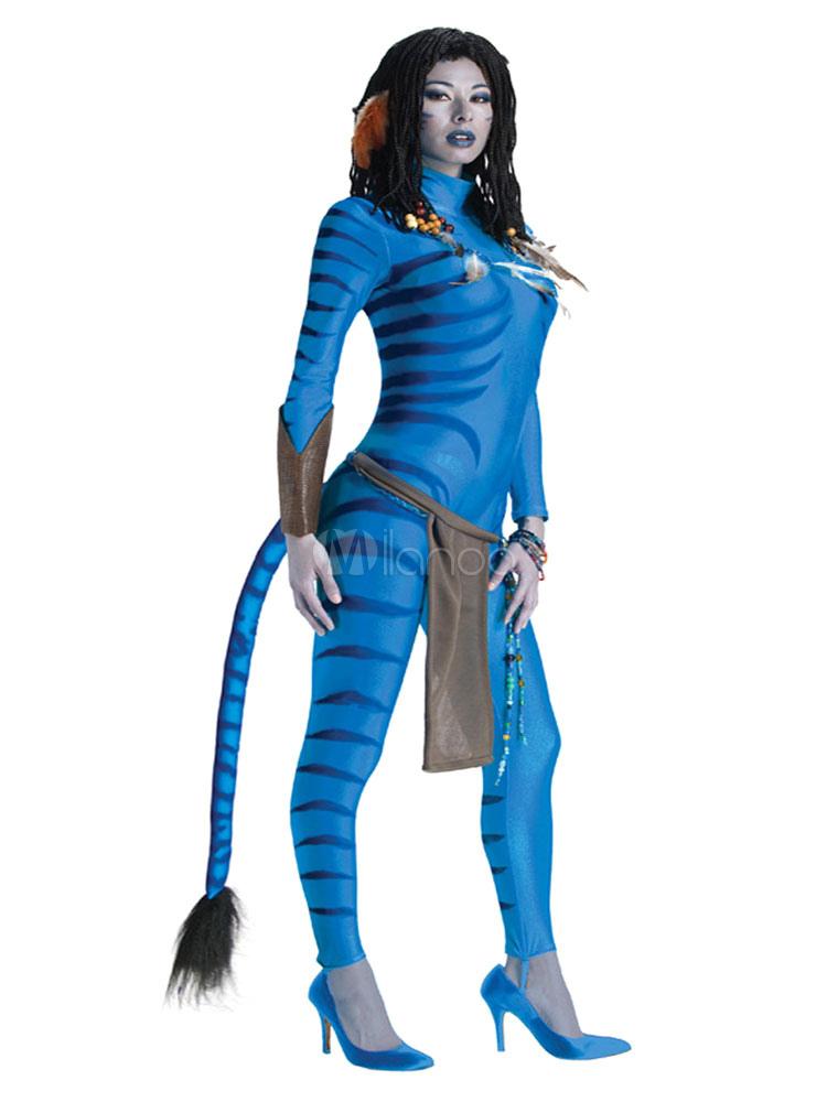 Avater Zentai Suit Ocean Blue Lycra Spandex Sexy Halloween Jumpsuit For Women Halloween