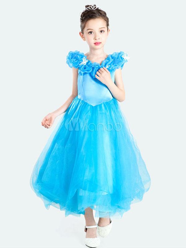 Kids' Halloween Costume Girls Blue Princess Tulle Classic Tu Tu Dress Halloween