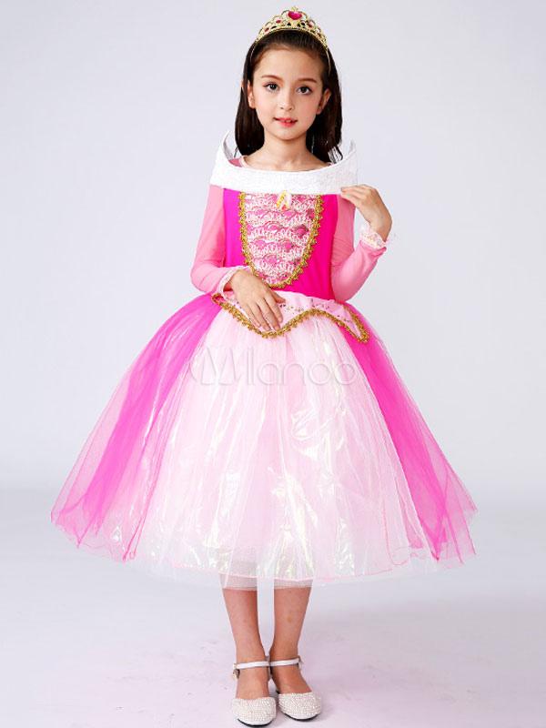 Kids' Halloween Costume Girls Rose Princess Tulle Classic Tu Tu Dress Halloween