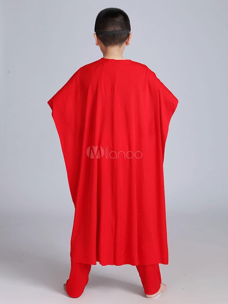 Costume Cosplay Set Blu Mantello Tuta Superman Carnevale