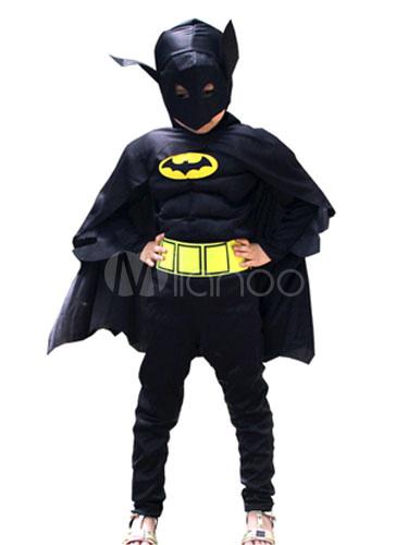 8f415af45 Disfraz de Niños Batman negro de cosplay de punto de roma con máscara con  mono Halloween-