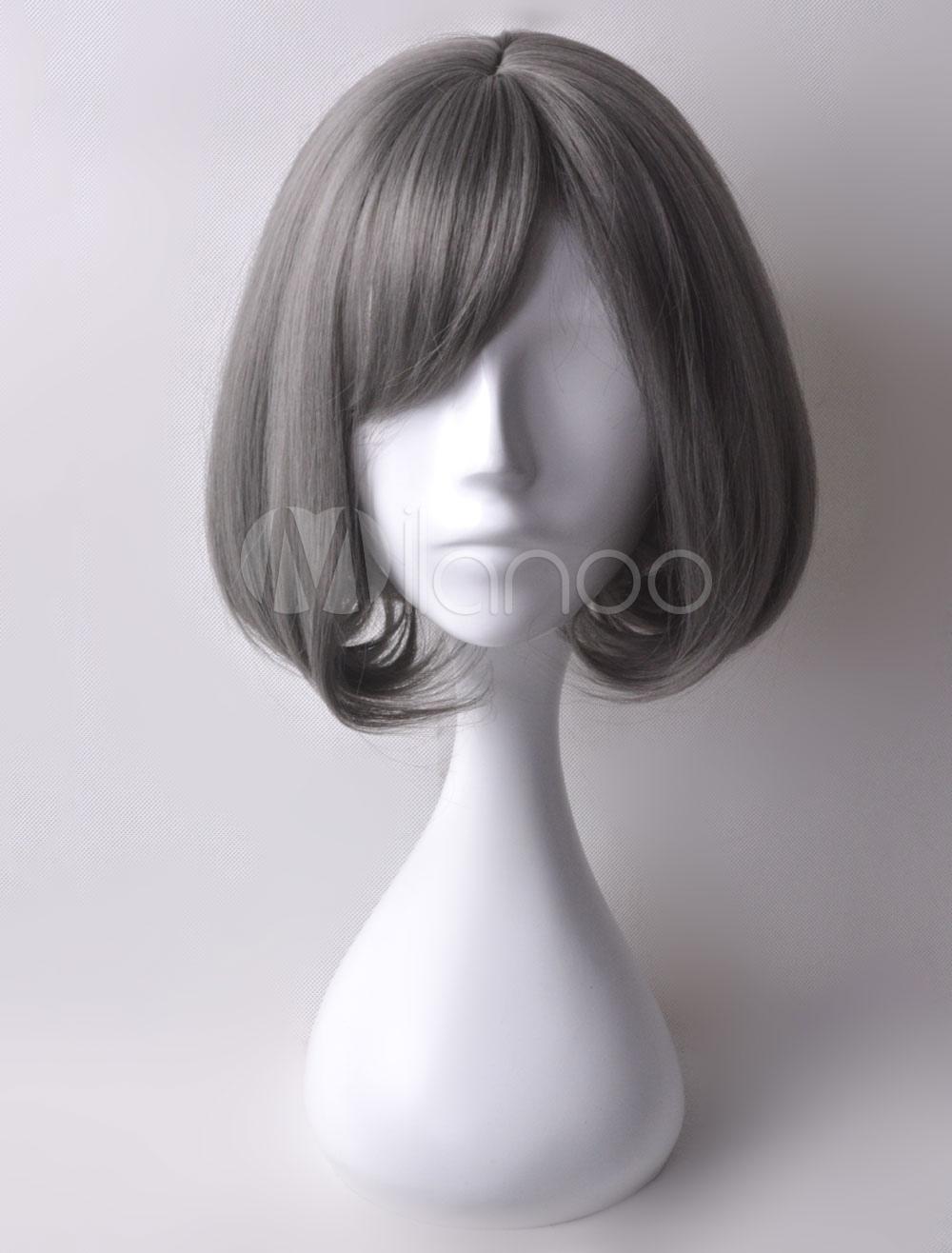 Harajuku Style Cosplay Wig Short Grey Wig Halloween