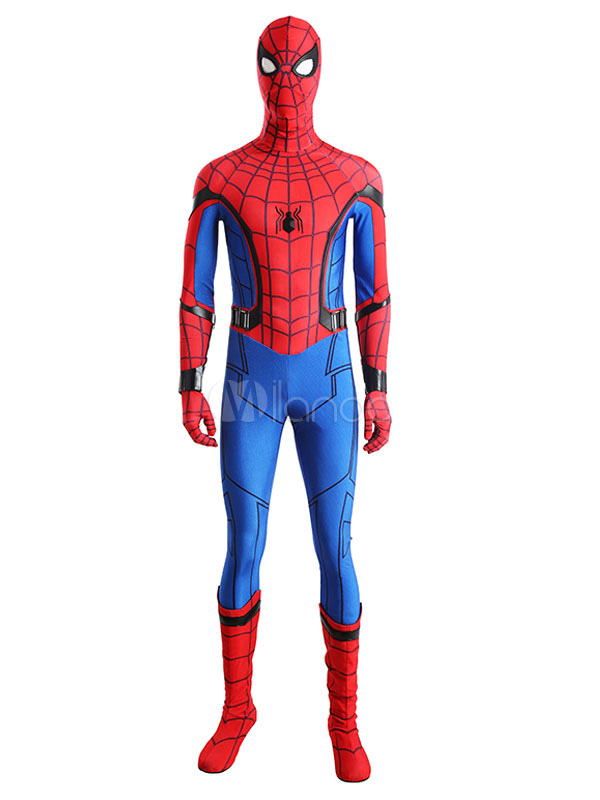 Spider Man Homecoming Marvel Comics 2018 Film Lycra Spandex Cosplay Costume Halloween