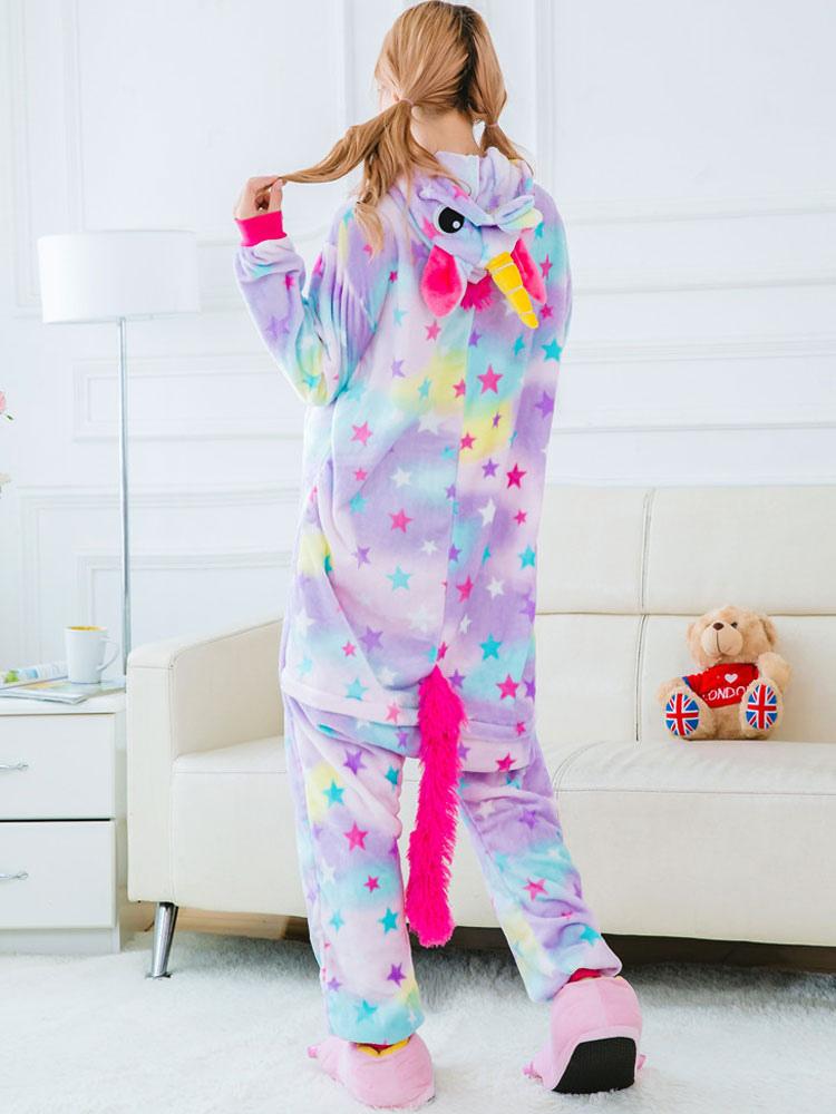 size 40 51e45 2c7ab Einhorn unicorn anzug 2019 Träumen Tierkostüme Pyjama Sterne Einhorn Onesie  Flanell Karneval-Kostüm schlafanzug