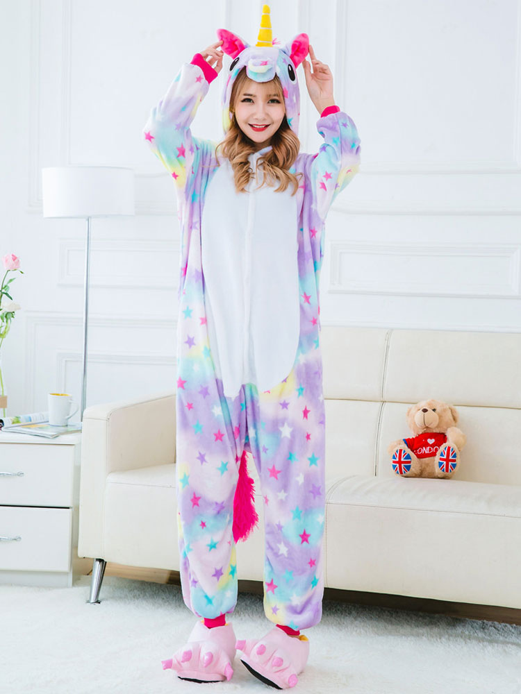 ... Dreaming Star Unicorn Kigurumi Pajamas 2019 Onesie Flannel Unicornio  Halloween Costume-No.2 ... 128f15c90