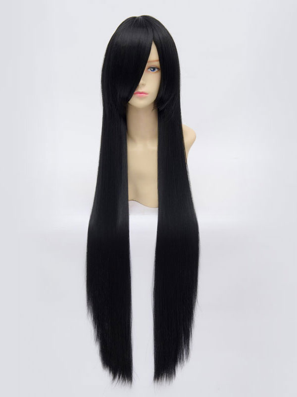 Anime Girls' Wig Black Long Cosplay Wig 100cm Halloween