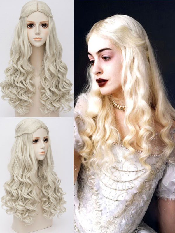 Alice In Wonderland White Queen Cosplay Wig Halloween