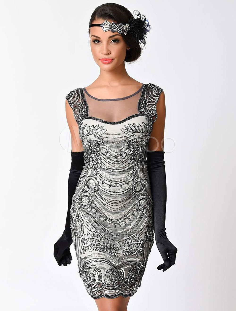 6eea8dab4e7 ... Great Gatsby Halloween Flapper Dress Costume 1920s Women s Vintage Dress-No.6.  12. 40%OFF. Color Black