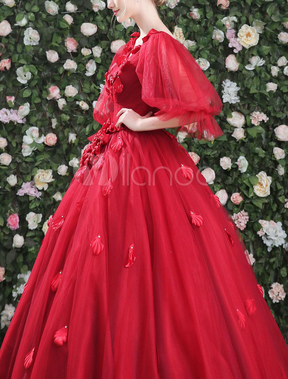 Burgundy Quinceanera Dresses Luxury V Neck Flowers ...