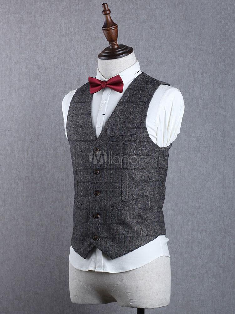 e339bb9518c ... Costume vintage pour homme aristocrate en polyester en polyester de  fêtes pour adultes pour homme Gilet ...