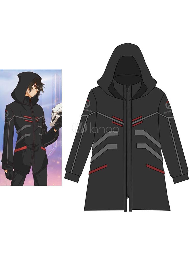 Overwatch OW Reaper Long Wind Coat For Winter - Milanoo.com 0b69cd65f496