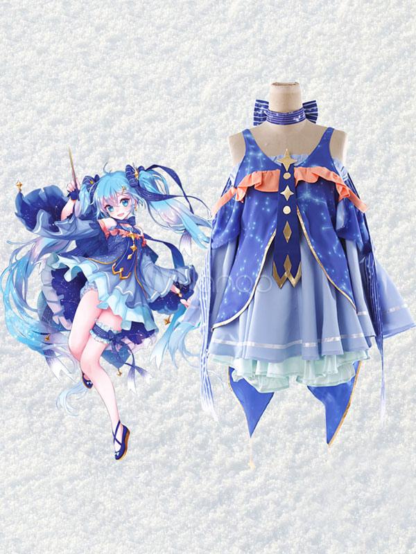 Vocaloid Snow Miku Kawaii Cosplay Costume