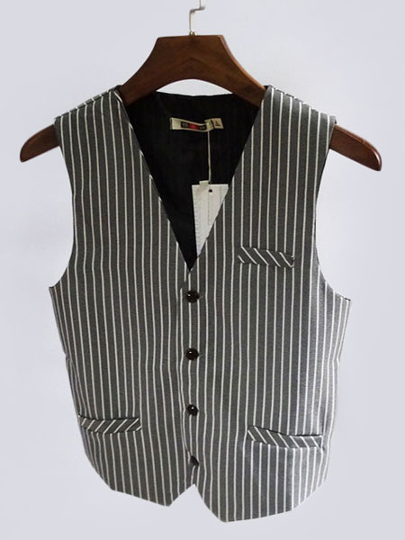 b122c85028a Costume vintagede l'homme aristocrate en polyester en polyester noire Gilet  pour adultes pour homme ...