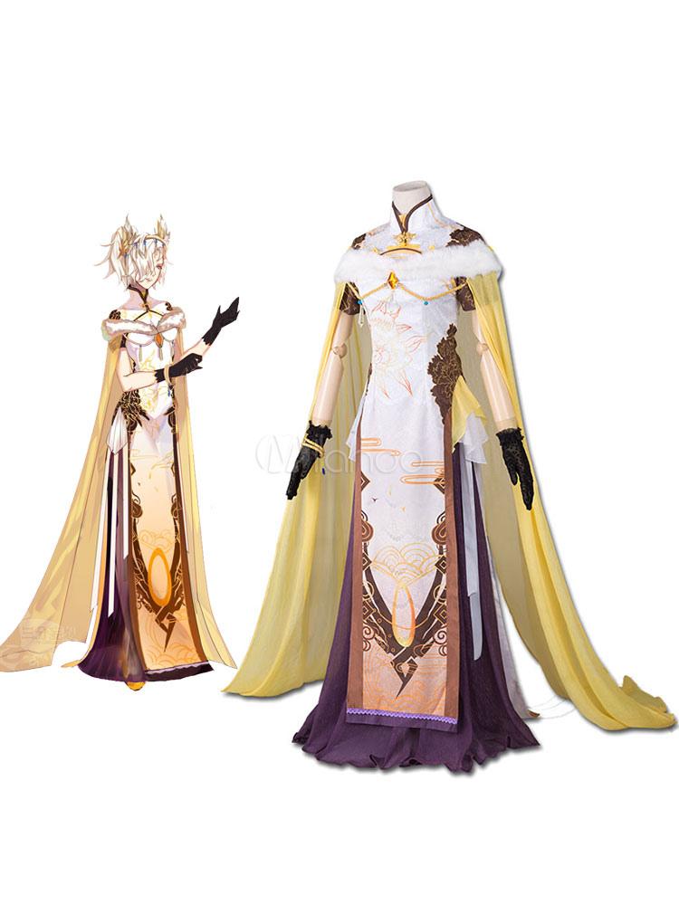 Overwatch Mercy Angela Ziegler Cosplay Costume Cheongsam Version