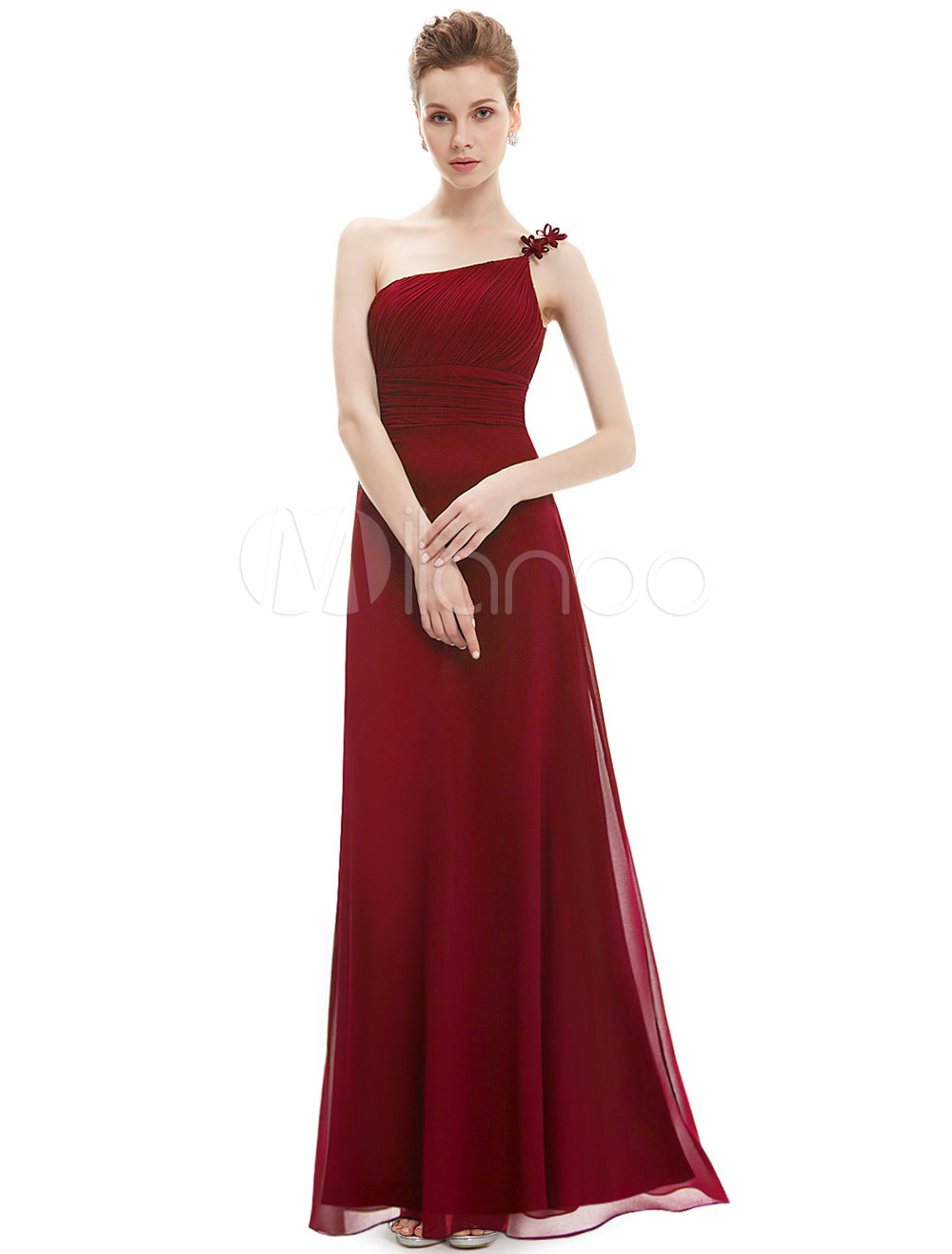 fa366ad62e4 One Shoulder Bridesmaid Dresses Long Chiffon - Gomes Weine AG