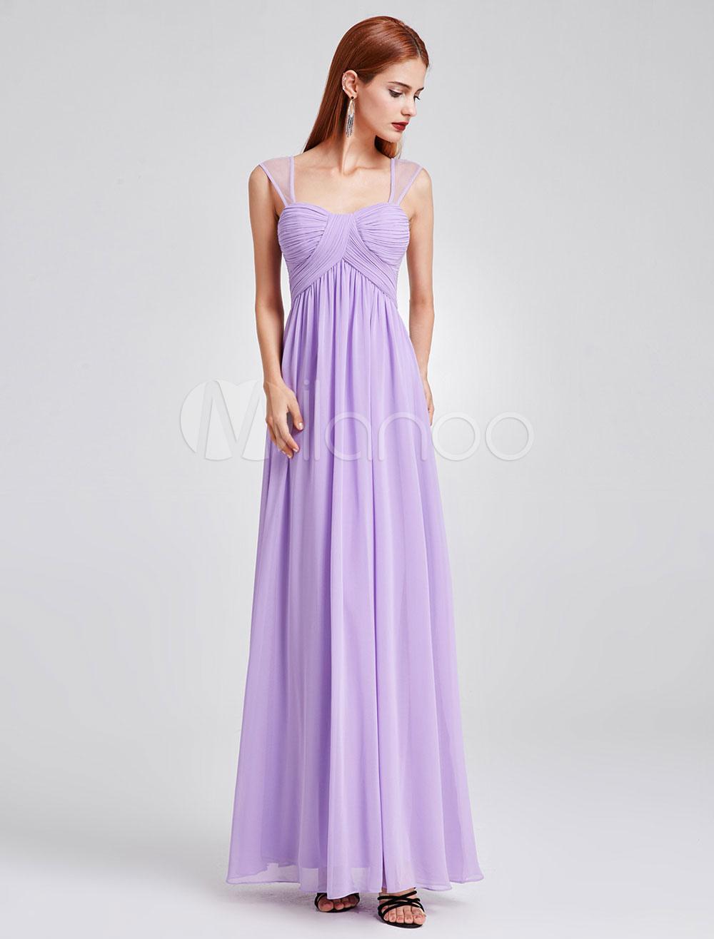 Vestido de Dama de Honor Largo de línea A De banda de encaje con ...