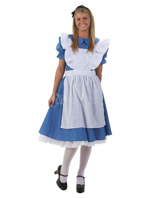 purchase cheap 0be17 fc52f Alice In Wonderland Vestito Blu Donna Da Donna Con Grembiule E Copricapo