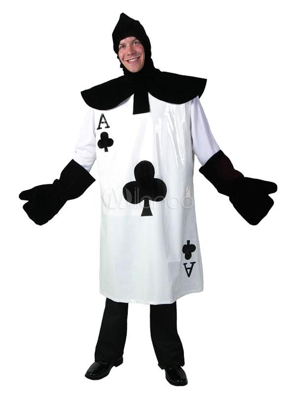 nuovi stili prezzo incredibile Scoprire Alice nel paese delle meraviglie Costume di Carnevale Le carte da gioco  Bianco Abbigliamento Uomo Stampato Con Guanti