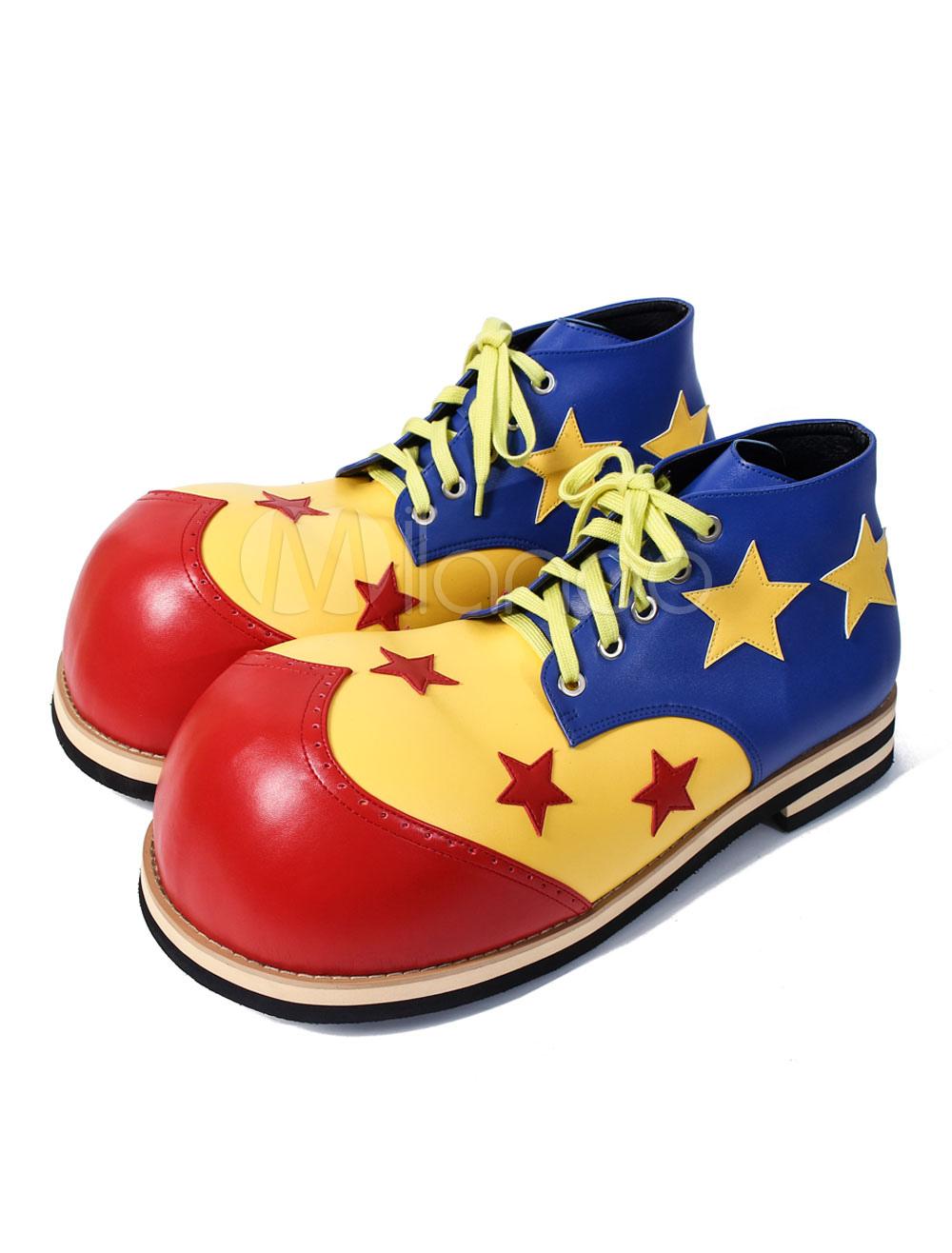 Halloween Circus Clown Polyurethane Cosplay Shoes