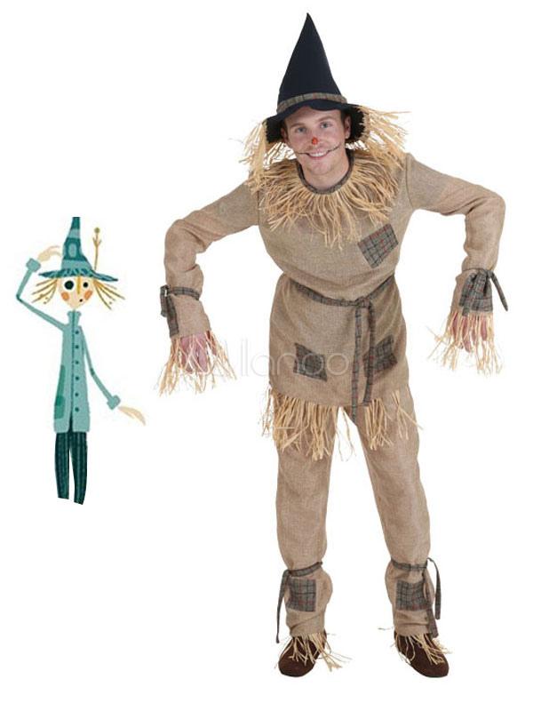 Der Zauberer Von Oz Männer Halloween Kostüm Vogelscheuche Khaki Set