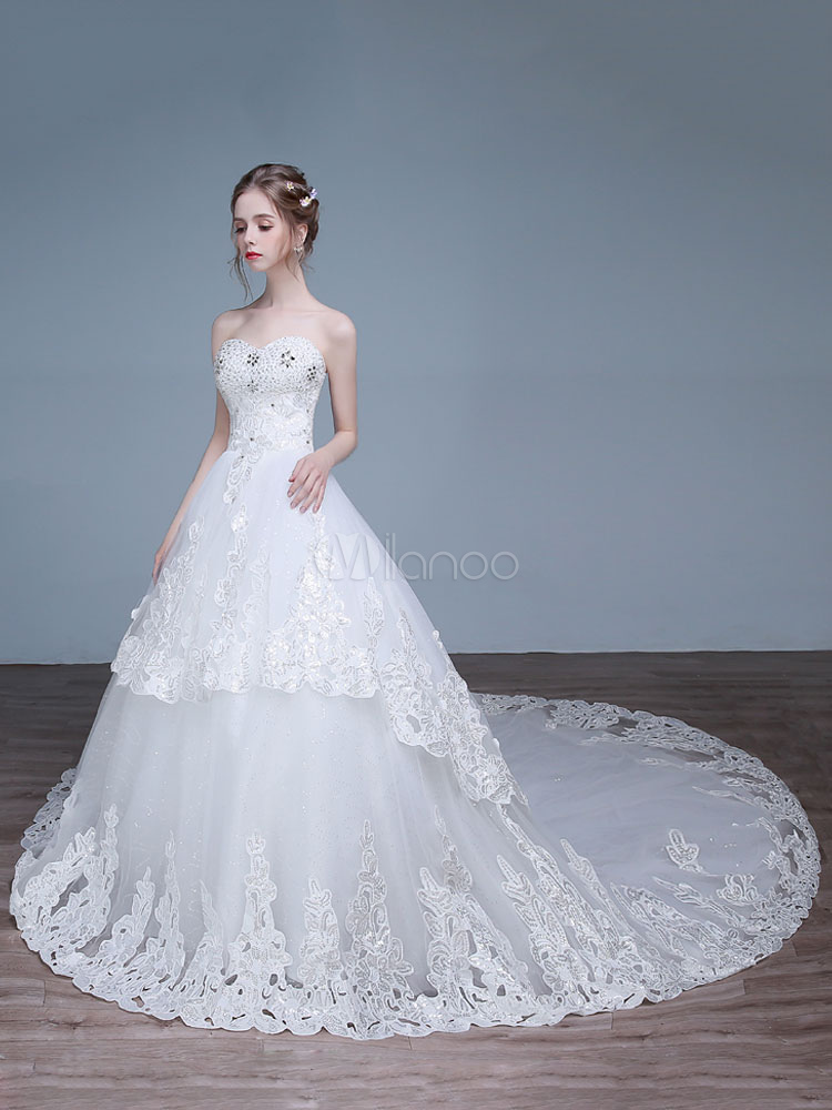Princess Wedding Dresses Off The Shoulder Wedding Gown Lace Beading ...