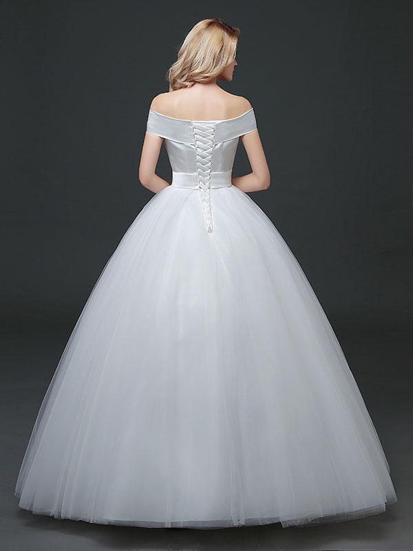 Princess Wedding Dresses Off The Shoulder Satin Tulle Bridal Dress ...